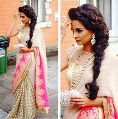 Be it for a casual get-together or a royal wedding, Indian hairdo hairstyles are best known for their beautiful look. Here's a list of exclusive hairdos hairstyles best suited for various Indian occasions, especially weddings. Grab them all! Saree Hairstyles, Long Hairstyles, Braided Hairstyles, Indian Dresses, Indian Outfits, Hair And Beauty, Indian Wedding Hairstyles, Indian Hairstyles For Saree, Hairstyle Wedding