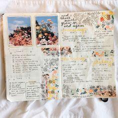 Diy Notebook, Journal Notebook, Journal Art, Bullet Journal Layout, Bullet Journal Inspiration, Bullet Journals, Cool Journals, Travel Journals, Art Journals