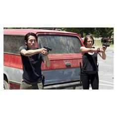 'Walking Dead' How Will Glenn and Maggie Fare in Woodbury? ❤ liked on Polyvore featuring the walking dead, walking dead, glenn rhee and maggie greene