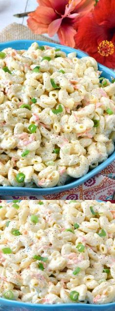 This Authentic Hawaiian Macaroni Salad from Gonna Want Seconds is the creamiest salad that you can make at home when you're craving a bit of Hawaiian food.