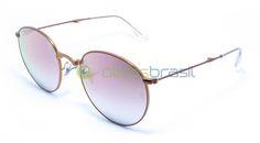 Para se manter um óculos redondo relevante, o Ray Ban RB 3532 foi atualizado com um design dobrável prático. Bonito e cheio de detalhes, é onde a forma encontra a função.  http://www.oticasbrasil.com.br/ray-ban-round-metal-dobravel-rb-3532-198-7y-oculos-de-sol