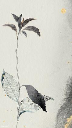Mobile Wallpaper, Wallpaper Backgrounds, Iphone Wallpapers, Leaf Template, Image Fun, Summer Landscape, Free Illustrations, Flower Illustrations, Vintage Flowers