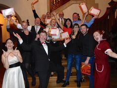 Whodunit Dine & Crime Murder Mystery at Pendley Manor Hotel Feb 2015 with Moneypenny Productions