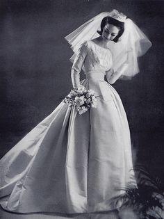 1963 Bouffant bride by Millie Motts, via Flickr.