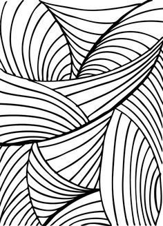 Illustration of Hand drawn abstract background. vector art, clipart and stock vectors. Abstract Backgrounds, Opt Art, Drawings, Black And White Abstract, Abstract Drawings, Surfboard Painting, Abstract Coloring Pages, Abstract, White Art
