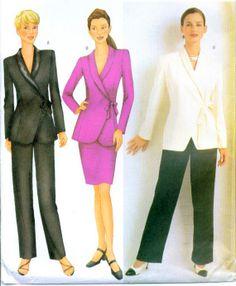 Plus Size Ladies Business Suit Sewing Pattern by MissBettysAttic, $5.00