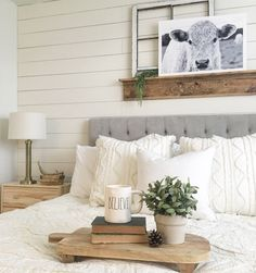 Neutral and simple bedroom