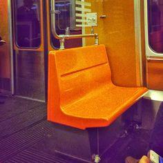 Orange underground in Helsinki Metro Station, Helsinki, Orange