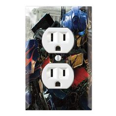 Transformers  Decorative Duplex Receptacle Outlet Wall Plate Cover TR01A