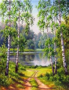 Road to the lake parts) - Best Painting Acrylic 2019 Watercolor Projects, Watercolor Trees, Watercolor Landscape, Landscape Art, Landscape Paintings, Landscape Photography, Nature Photography, Pictures To Paint, Nature Pictures