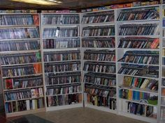 My game shelves, hopefully filled just as much with games I've collected over the years.