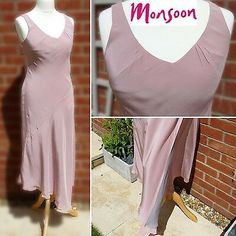 Colour: Blush Pink Layered over Grey Lining Size: Christmas Party~Wedding~Cruise~Races. Party Dresses For Women, Wedding Party Dresses, Party Wedding, Cruise Party, Cruise Wedding, Pink Grey, Blush Pink, Black Silk, Monsoon
