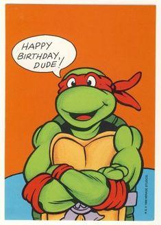 happy birthday grandson ninja tuturle | Raphael Birthday Greeting Card - Ninja Turtles - TMNT