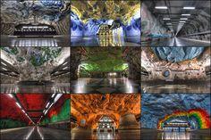 Stockholm Metro Art Gallery – Stockholm, Sweden - Atlas Obscura