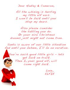 Elf on the shelf letter free printable pinterest yummy mummy elf on shelf letter template the kids made me fat the elf went for spiritdancerdesigns Images