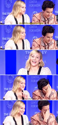 """she was like """"bitch no"""" - PaleyFest 2018 Riverdale Netflix, Riverdale Funny, Bughead Riverdale, Riverdale Archie, Riverdale Memes, Dylan Sprouse, Sprouse Bros, Cereal Guy, Movies And Series"""