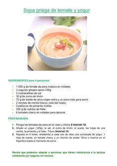 Sopa griega de tomate y iogurt