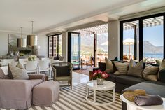 Cape View Clifton, Cape Town, South Africa: This is a food & wine destination. The perfect first stop before you journey into the bush for some adventure. Decor, Home, House Design, Vacation Home Rentals, Beautiful Homes, Hotel, Small Hotel, Clifton Hotel, Outdoor Furniture Sets