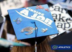 nice Finding Nemo/Dory Grad Cap Design by Lesley Wright – UF Class of Disney Graduation Cap, Funny Graduation Caps, Graduation Cap Designs, Graduation Cap Decoration, Graduation Diy, Graduation Pictures, Graduation Quotes, Graduation Announcements, Graduation Invitations