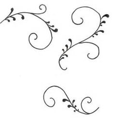 Practice sheets for cake decorating piping scroll work for Wilton print templates