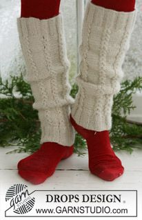 "Ravelry: Legwarmers with cables in 2 threads ""Alpaca"" pattern by DROPS design Crochet Mitts, Crochet Wrist Warmers, Knit Leg Warmers, Knit Crochet, Knitting Patterns Free, Knit Patterns, Free Knitting, Free Pattern, Drops Design"
