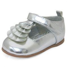 Silver Ruffle Shoe