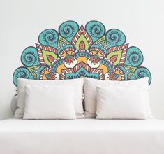Creative Wall Painting, Room Wall Painting, Mural Wall Art, Creative Walls, Wall Art Prints, Mandala Art Lesson, Mandala Artwork, Mandala Drawing, Mandala Painting