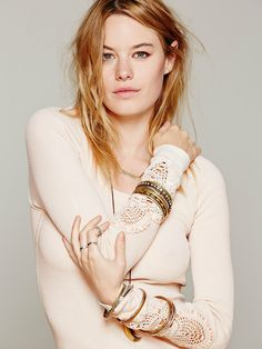 Free People Synergy Cuff - Free People thermals are a wardrobe staple.  I get more than my money's worth from them and wait with bated breath every summer to see what the new sleeves will look like.  Love this one and will be sure to buy every color!!!