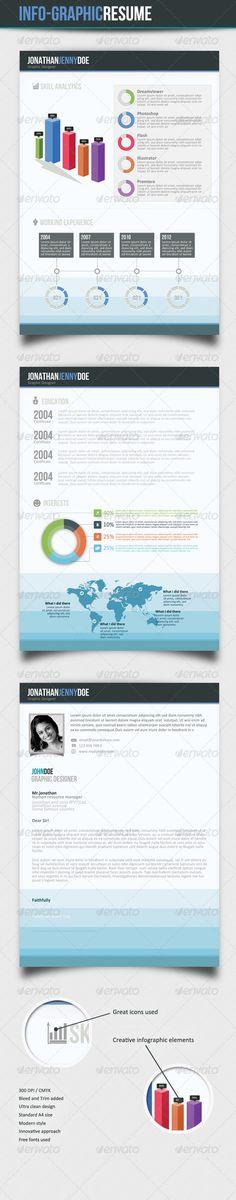 Infographic Resume\/Cv Bundle Volume 2 Infographic resume, Resume - infographic resume creator