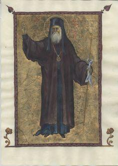Nectarios of Aegina and Pentapolis Byzantine Icons, Byzantine Art, John Chrysostom, Orthodox Icons, Style Icons, Saints, Religion, Bible, Project Site