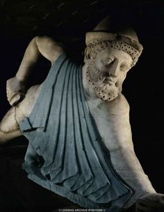 Roman sculpture ,1st-3rd century BCE  Ulysses stealing away from the cave of Polyphem.  Isabella Steward Gardner Museum  Boston