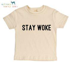 Stay Woke Organic Cotton Toddler Tee