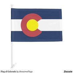 Flag of Colorado Car Flag