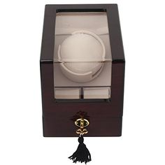 Kendal Top Quality Single Wooden Watch Winder plus 2 Storage with Advanced Control & Reliable Japan Motor