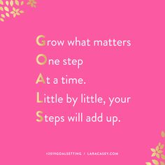 Author of Make It Happen and Creator of PowerSheets Goal Setting Planner Goal Quotes, Life Quotes, Monday Quotes, Motivation Quotes, Goal Setting Life, Goal Settings, Lara Casey, Goal Journal, Goals Planner