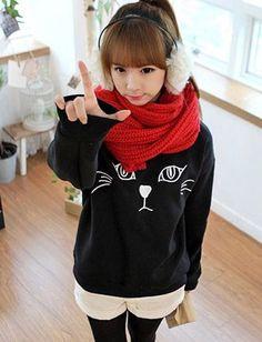 Adorable Sweatshirt. Korean Fashion / Sweater de gatito!