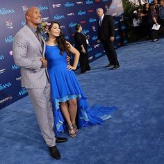 Dwayne Johnson (the voice of Maui) and Auli'i Cravalho (the voice of Moana) strike a pose on the blue carpet at Disney's MOANA World Premiere in Hollywood. #DwayneJohnson #AuliiCravalho #MOANA #premiere #1540Productions - http://ift.tt/1HQJd81