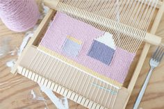 Weaving for a new home by Lucy from Peas and Needles