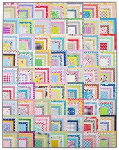 Scrappy Quarter Log Cabin Quilt - A Finished Quilt