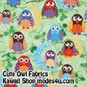 Cute Owl Fabrics