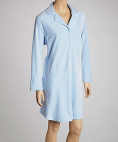 Love this Blue Stripe Sleepshirt - Women & Plus by Casual Moments on #zulily! #zulilyfinds
