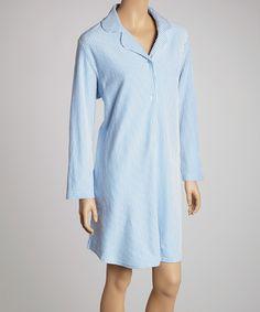 Love this Blue Stripe Sleepshirt - Women & Plus by Casual Moments on #zulily! #zulilyfinds