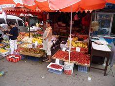 Marktscene in Beijing