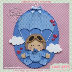 Doce Arte by Pati Guerrato Foam Crafts, Baby Crafts, Diy And Crafts, Paper Crafts, Shower Bebe, Baby Boy Shower, Scrapbook Bebe, Baby Shawer, Baby Quilts