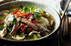 Ramen noodles are popular for their delicate texture, & are delicious paired with beef & greens in a miso broth. See more soup recipes at Tesco Real Food.