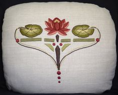 Hand Embroidered Arts and Crafts Craftsman Style by paintbythread, $245.00