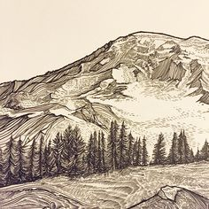 LOVE love love love LOVE this…the mountains, the trees, the style…  ///art by Jeremy Collins