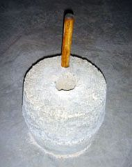How to build your own Quern (flour mill) from concrete.