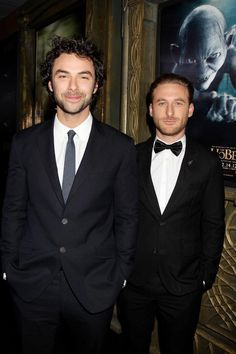 (Kili & Fili) at the New York Premiere....is Fili really that short...??? XD I thought Kili was the baby of the family, haha