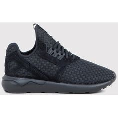 adidas Originals Adidas Tubular Weave Runner - Core Black ($65) ❤ liked on Polyvore featuring men's fashion, men's shoes, men's sneakers и black